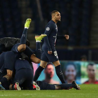 PSG juhlii jatkopaikkaa Dortmundia vastaan