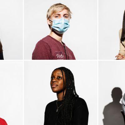 Nuoret Malissa Aydin, Lasse Rouvanmäki, Didan Hassan, Miku Muhonen, Astrid Makengo ja Elgun Malikov kommentoivat, haluaisivatko he lähihoitajiksi.
