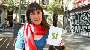 Kvinna i Barcelona tänker rösta JA i den inofficiella folkomröstningen om självständighet