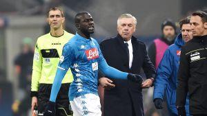 Kalidou Koulibaly och Carlo Ancelotti i stormens öga.