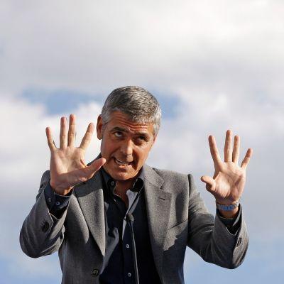 George Clooney i Italien 2009