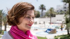 Hotelldirektör Zohra Driss i Sousse i Tunisien.