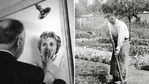 Kuvakoosteessa kuvat Psykon kuvauksista ja Lumièren veljesten varhaisesta elokuvasta.
