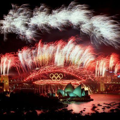 Avslutningsceremoni, sommar-OS Sydney 2000.