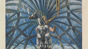 Verk av Salvador Dali med häst