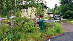 Brottsplatsen i skottdramat i Vichtis där en polis dog