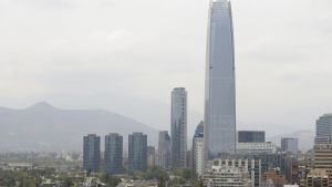 Yleisnäkymä Santiagon kaupungista Chilestä tammikuun 6. päivä 2020.