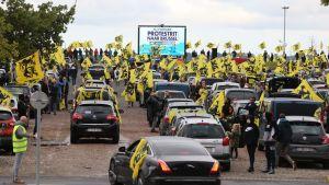 Tusentals högerextremistiska flamländare demonstrerade i Bryssel på söndagen.