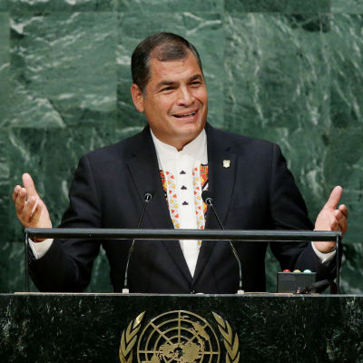 Ecuadorin presidentti Rafael Correa.