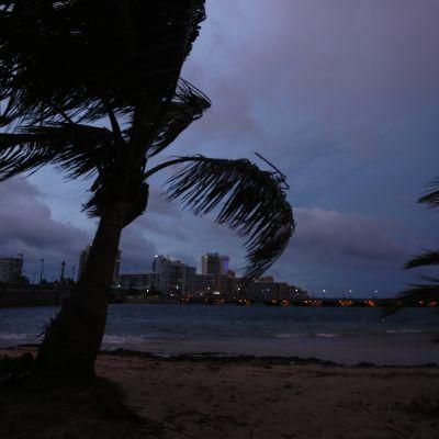 Orkanen Maria närmar sig Puerto Rico.