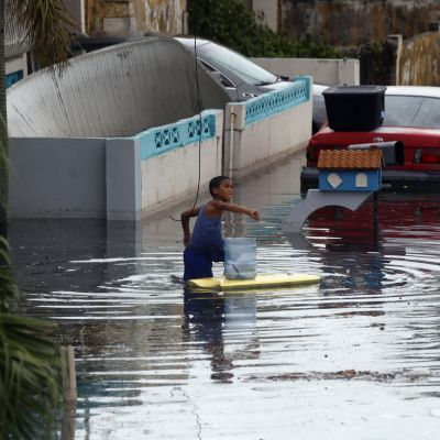 Översvämningar i Puerto Rico efter orkanen Maria.