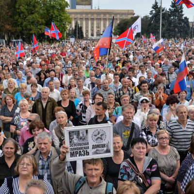 Proryska demonstranter.