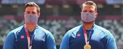 Simon Pettersson och Daniel Ståhl står på prispallen.