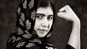 Fotograf Albert Wikings porträtt av Malala Yousafzai.