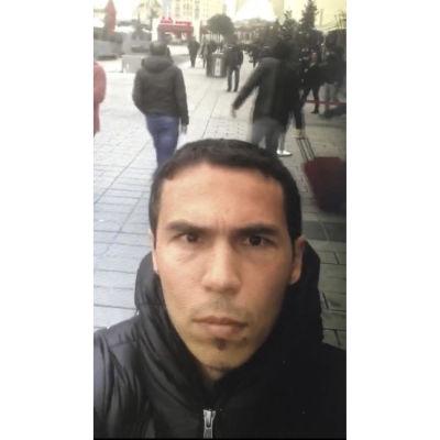 Den misstänkta gärningsmannen i anslutning till attentatet på nattklubben Reina i Istanbul.