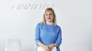 Finnairs kommunikationschef Päivyt Tallqvist,
