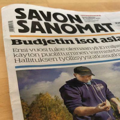 Savon Sanomien lehti 16. syyskuuta 2020