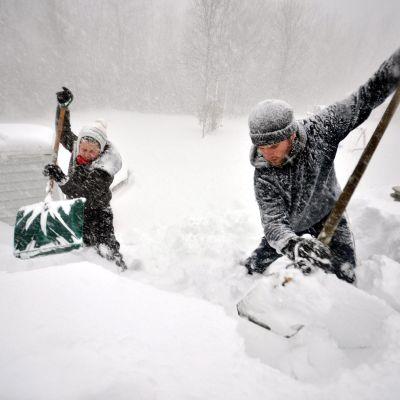 snöstorm i New York