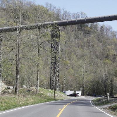 Vy utanför kolgruvan i Montcoal i West Virginia där 29 människor dödades i en olycka den 10 april 2010.