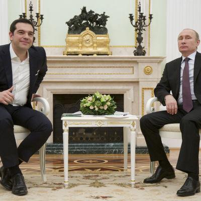 Tsipras och Putin träffades i Moskva.
