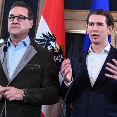 Heinz-Christian Strache och Sebastian Kurz.