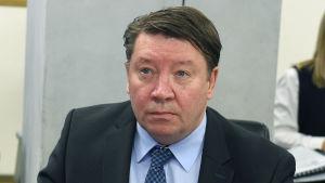 Jari Kurri under ett KHL-möte.