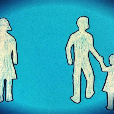 Fula tecknade gubbar som används i ett program om bonusföräldraskap