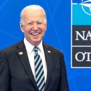 Yhdysvaltain presidentti Joe Biden Nato-huippukokouksessa Brysselissä 14. kesäkuuta 2021.