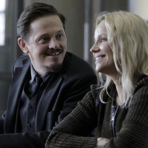 Thure Lindhardt som Henrik Sabroe och Sofia Helin som Saga Norén i den fjärde säsongen av tv-serien Bron.