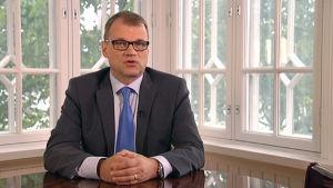 Statsminister Juha Sipilä talade till finländarna på onsdagen den 16 september
