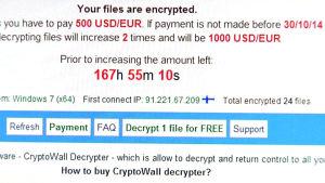 Utpressningstrojanen Cryptowall.