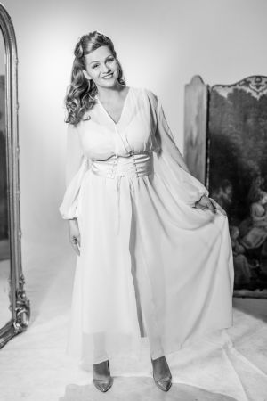 Janina Fry poserar som Rita Hayworth