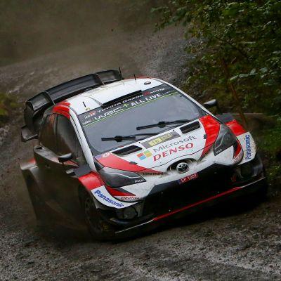 Jari-Matti Latvala i Wales VM-rally.