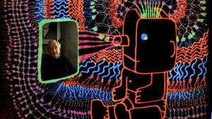 Ovatko pitkät ihmiset onnellisia? Kuva Michel Gondryn animaatiodokumentista. Kuvassa Noam Chomsky.