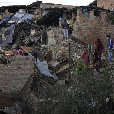 Den förödande jordbävningen i Nepal den 25 april 2015 drabbade bland annat huvudstaden Katmandu.