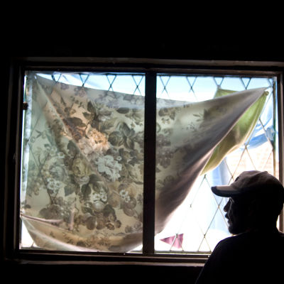 Deporterad hemlös mexikansk man i härbärge i Tijuana, Mexiko