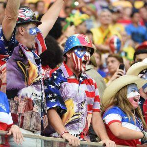 Amerikanska fotbollsfans under VM 2014.