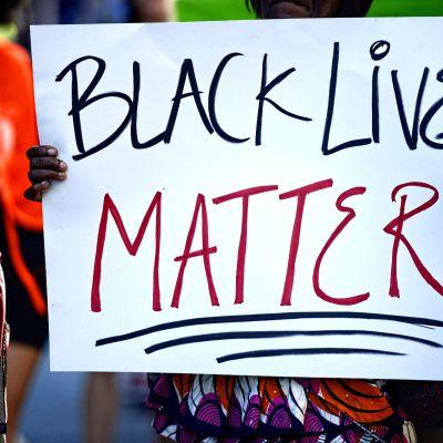 Kampanjen Black lives matter i USA.