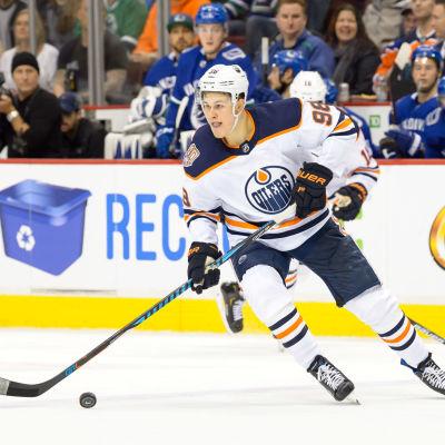 Jesse Puljujärvi mot Vancouver Canucks.