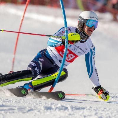 Joonas Räsänen i sin sista Europacuptävling i Gstaad.