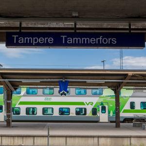 Tampereen rautatieasema.