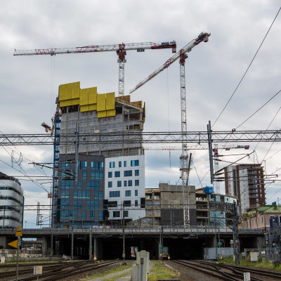 Tampereen Kannen rakennustyömaa.