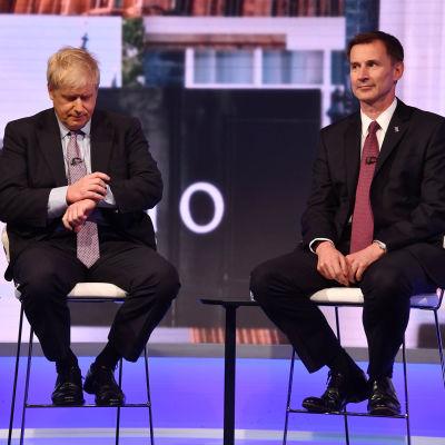 Boris Johnson och Jeremy Hunt