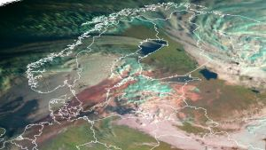 På satellitbilder syns partiklarna.