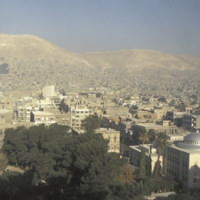 På bilden ser man Syriens huvudstad Damaskus.