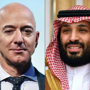 Jeff Bezos och Muhammad bin Salman.