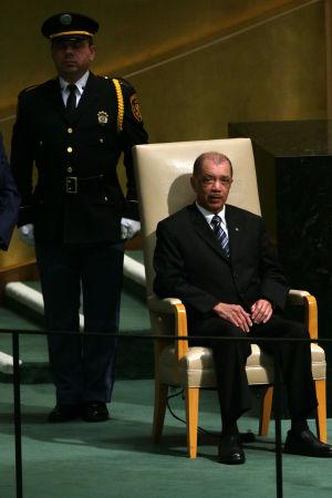 President James Michel i FN:s generalförsamling i september år 2015