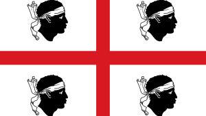 Sardiniens flagga.