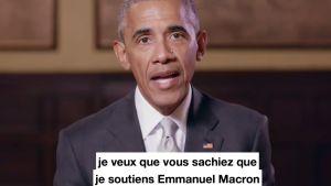 USA:s förre president Barack Obama uppmanade i en video som publicerades den 4 maj 2017 fransmännen att rösta på Emmanuel Macron i det franska presidentvalet 2017.