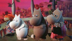 Scen ur filmen Mumintrollens farliga midsommar.
